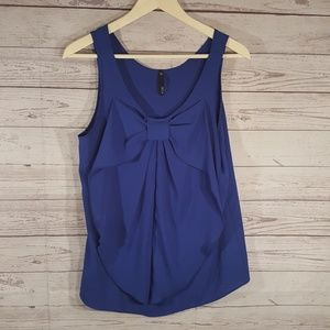 Womens Topsz L Royal Blue Sleeveless Bow